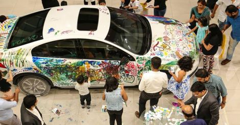 Go to Kochi and get your child a Volvo, to scribble on!