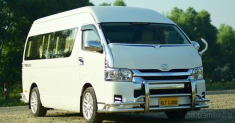 Customized HiAce makes a grand entry to Kerala