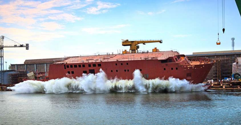 How are ships launched into water? Watch video