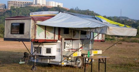 This Kasaragod native builds his own 'car house' and travels the world in it
