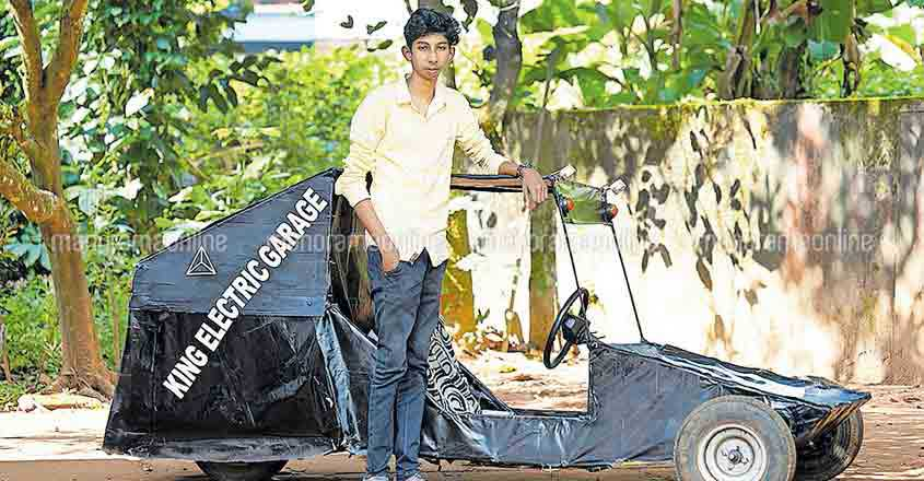 Wayanad youth makes 'scooter car'