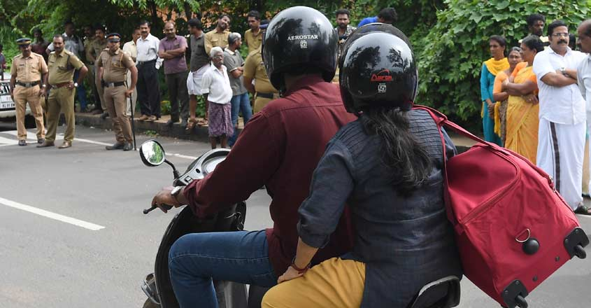 Fom today, pillion riders too must wear helmets in Kerala