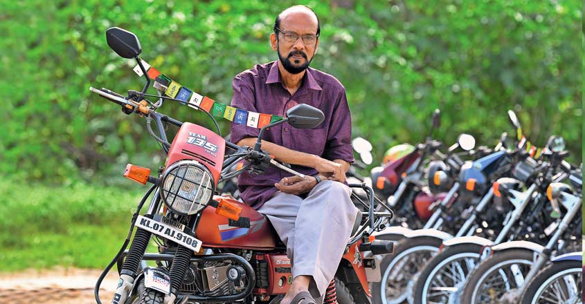 The magical touch: Owners of vintage Yamaha bikes vouch by this 'Aashan'