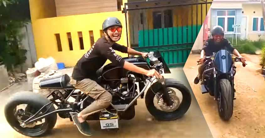 When modification becomes a wonder: bike gets Innova engine