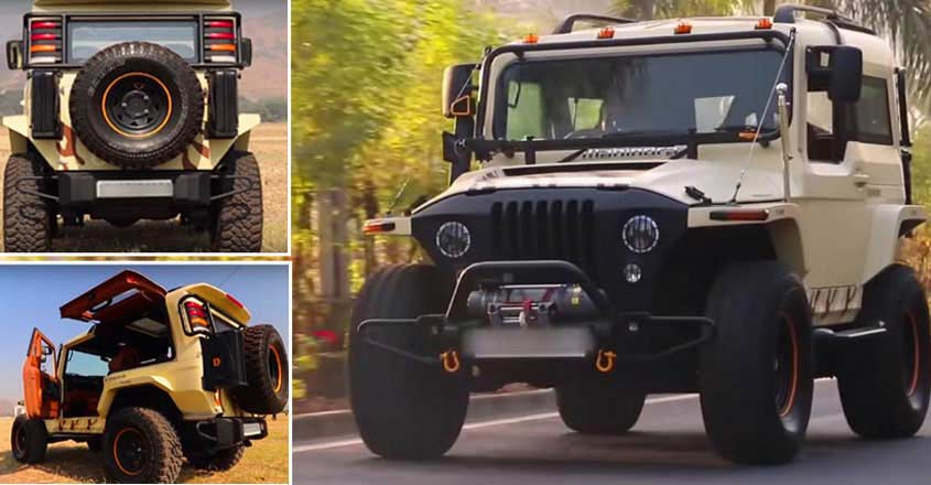 This modified Thar is completely legal on the roads | Video