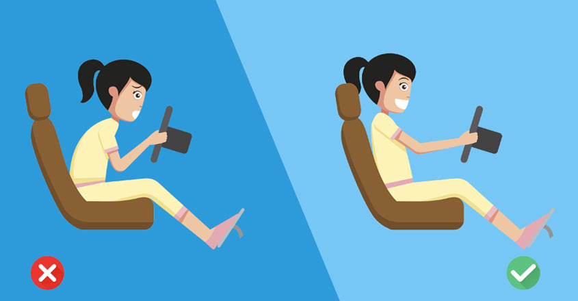 Find the right seating position to drive like a pro