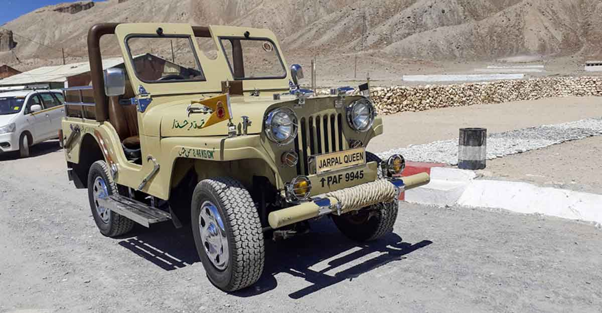 Jeep captured from Pakistan stands as 'war trophy' in army camp