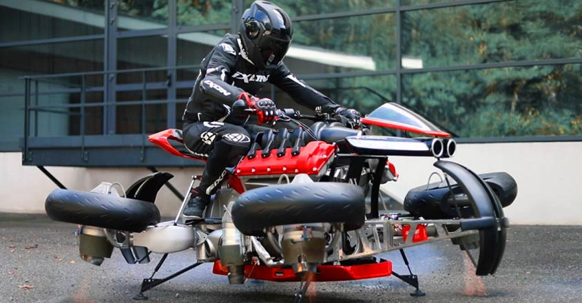 A real motorcycle that can fly