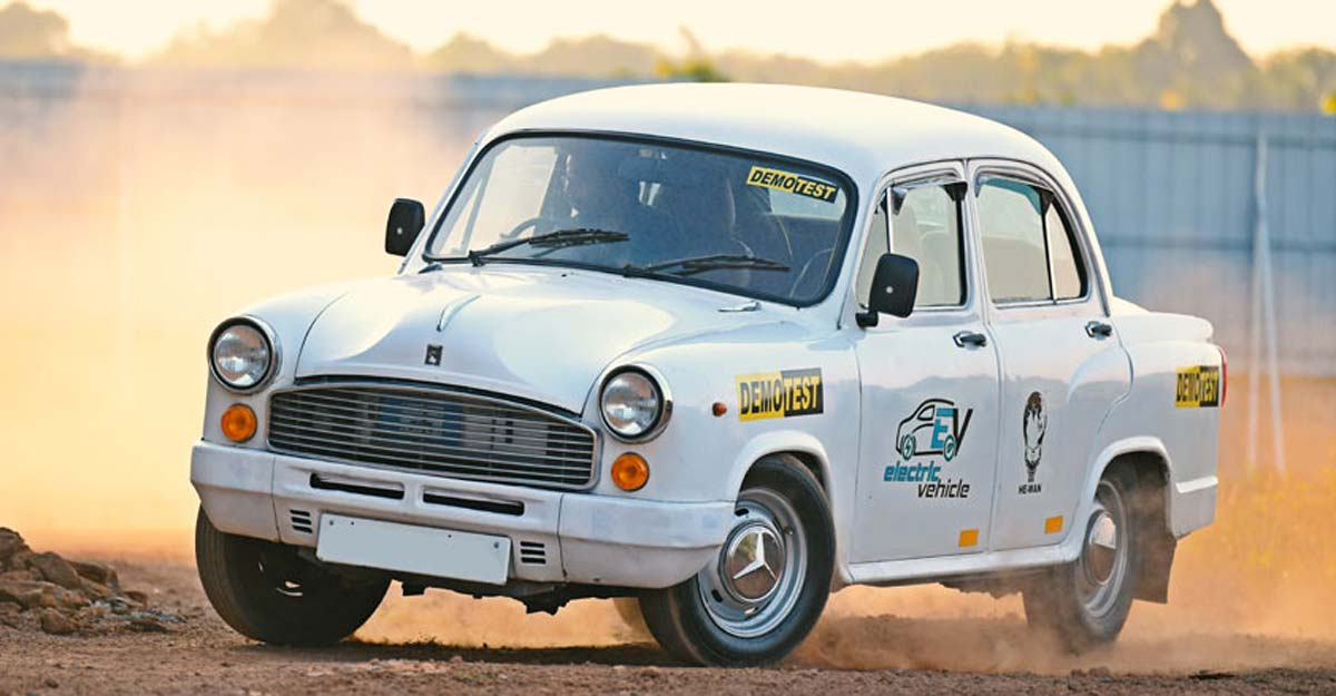 This electric Ambassador runs 100 km in a single charge, costs Re1 per km