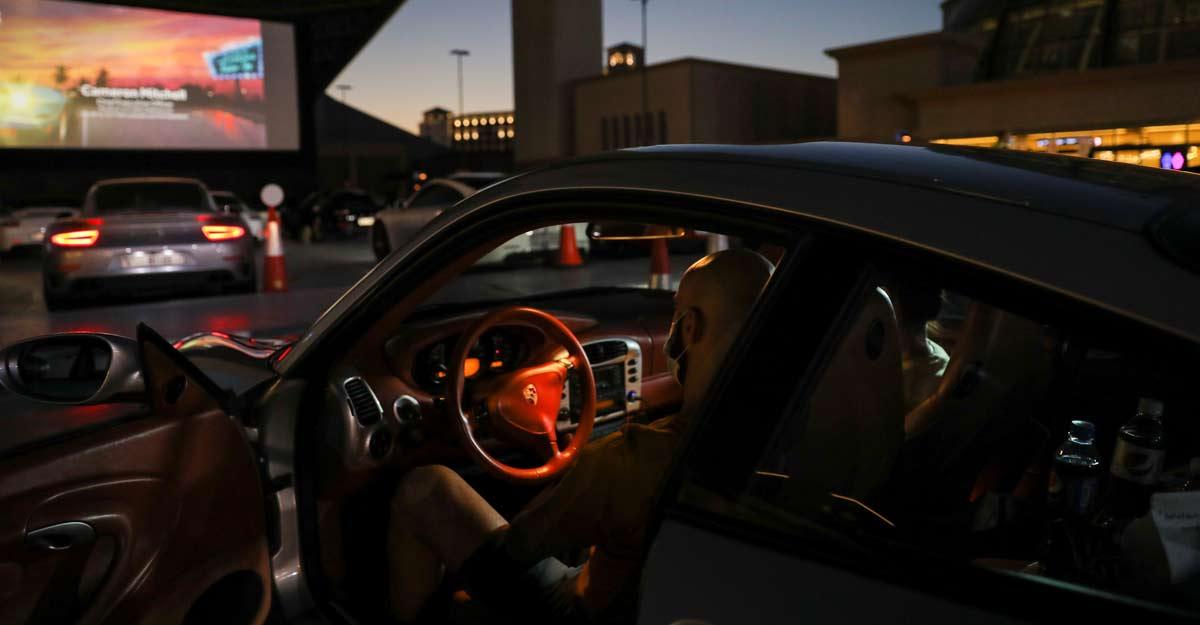 Porsches, popcorn and social distancing at Dubai drive-in cinema