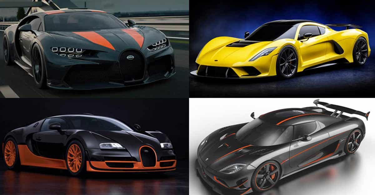 Lightning speed, super style: Ludicrously fast hyper cars of world
