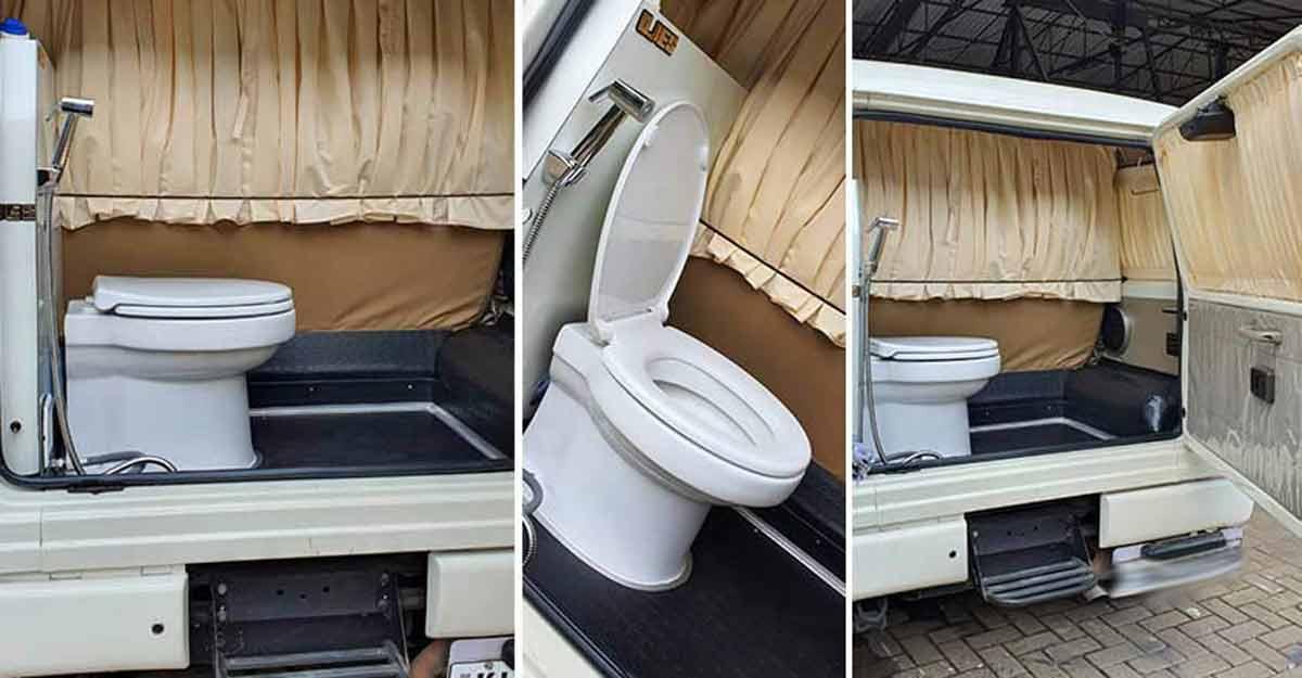 Not just caravans, even a Mahindra Bolero can have a toilet | Video