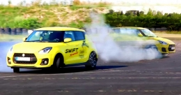 Isn't that a Swift? Watch the popular hatchback's exciting stunts