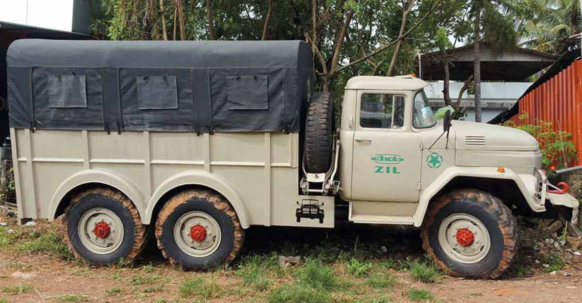 This Russian six-wheel drive truck was a rocket launcher in Indian Army