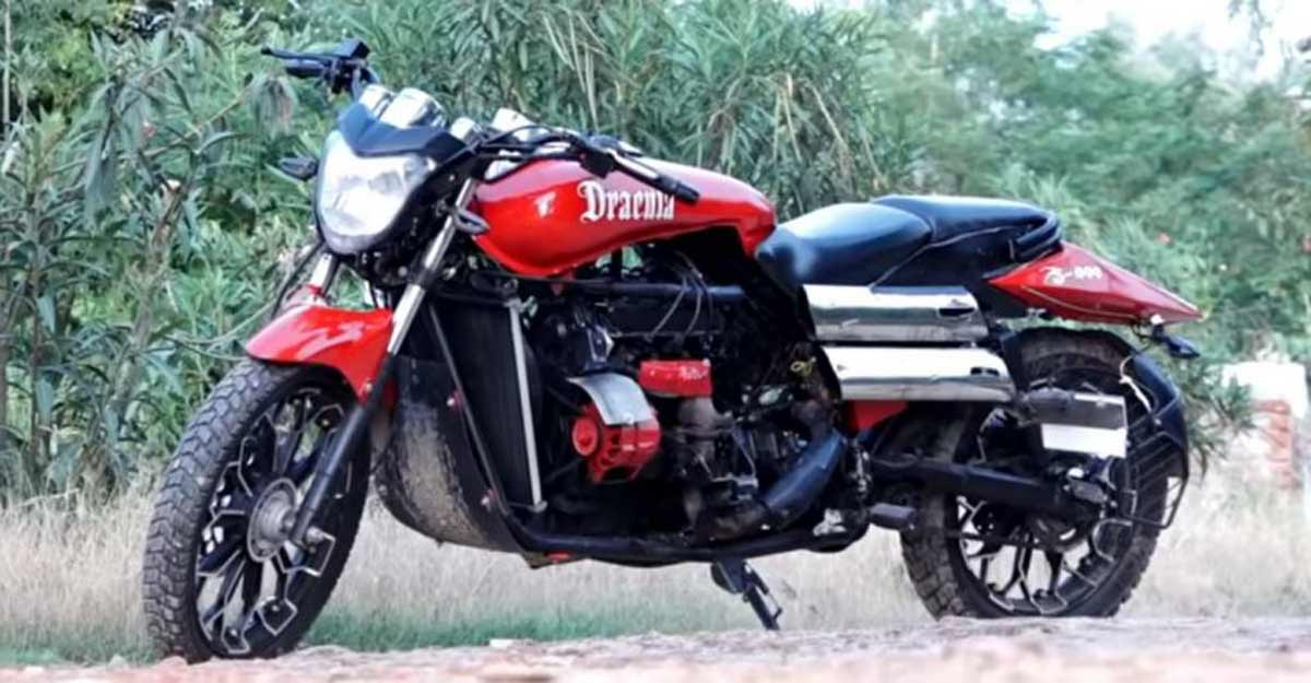 This 'Dracula S 800' bike has a Maruti 800 engine and hits 200 kmph