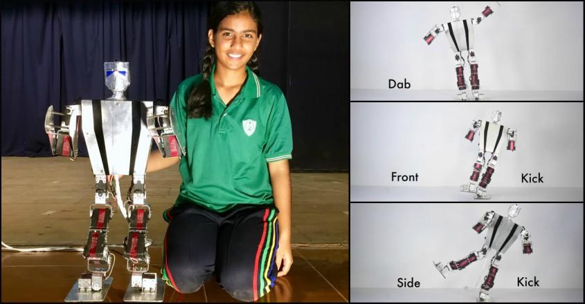 No child's play: 16-year-old Thrissur girl Tanisha develops robot Cadrick, all by herself
