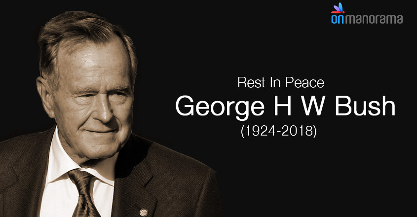 George H W Bush, the 41st US president, is no more