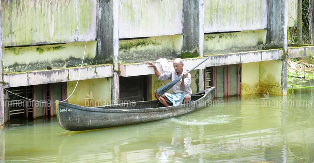 Thottappally spillway opened to prevent flooding in Kuttanad
