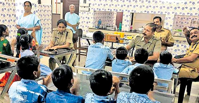 Police officers provide moments to cherish for boys home inmates
