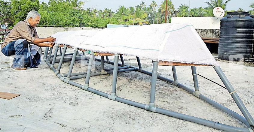 Kochi man designs PVC boat for Rs 50,000