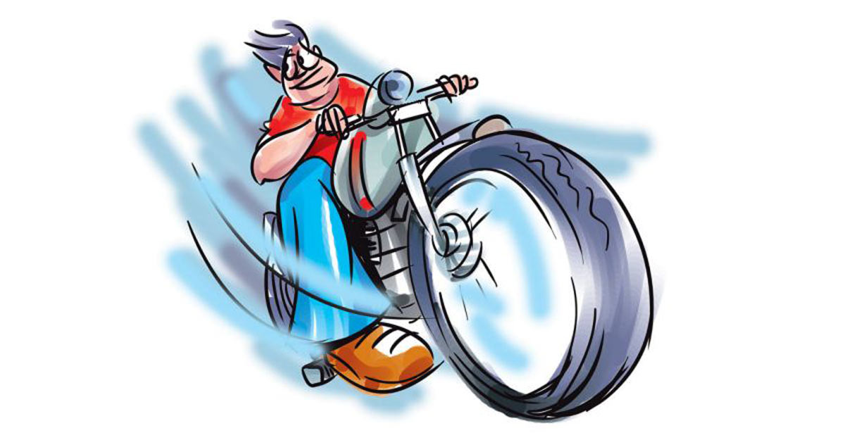 Youth riding friend's bike fined Rs 18,750 for a series of offences
