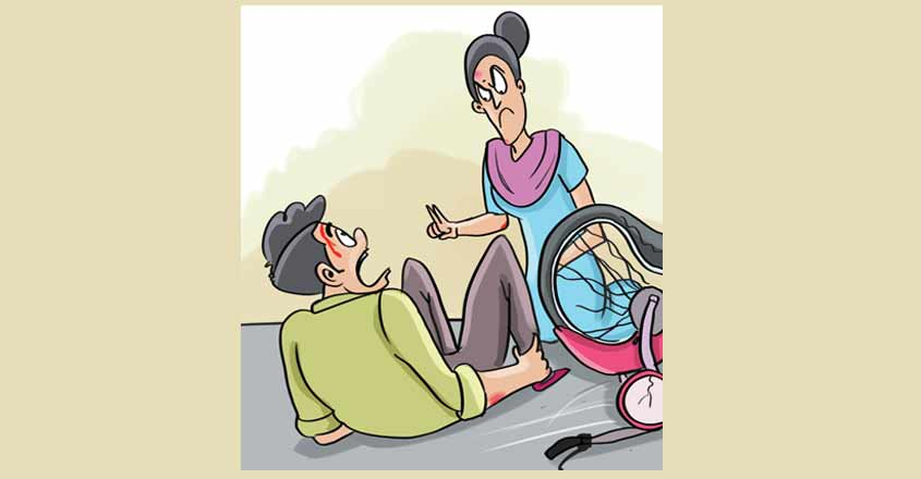 Bike accident crashes youth's extramarital affair