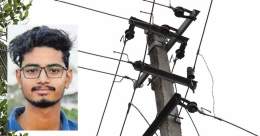 Engineering student electrocuted as wire rope grazes overhead line