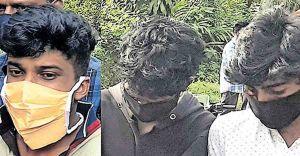 Ganja peddlers fleeing cops slip up, set foot in police station!