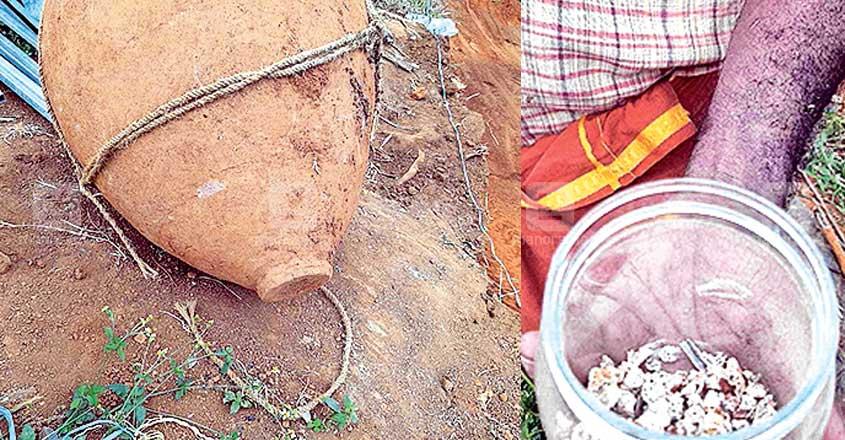 Stone age burial urn
