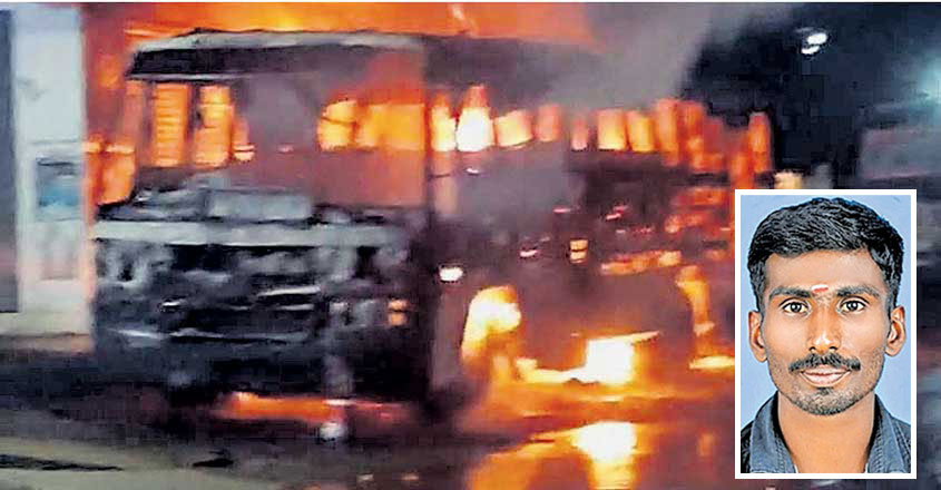 Cleaner charred to death as bus gutted in fire at Kumily