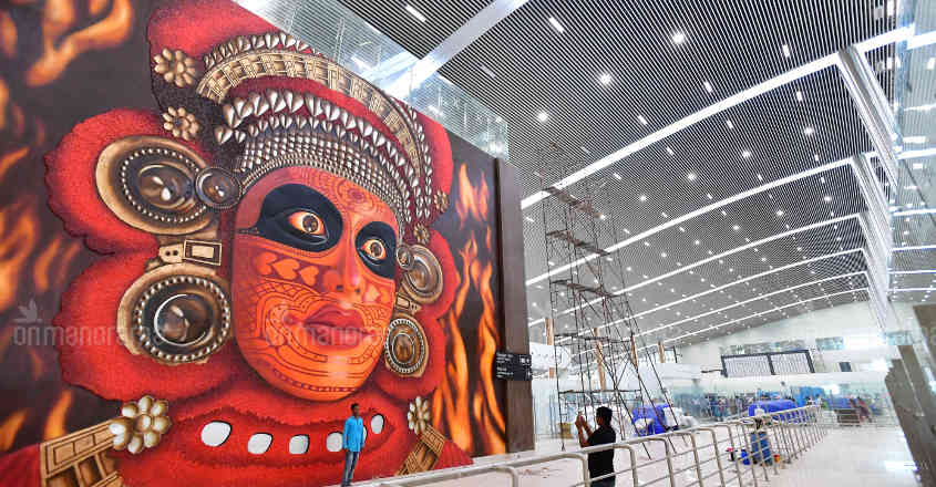 Mammoth mural painting adorns Kannur airport