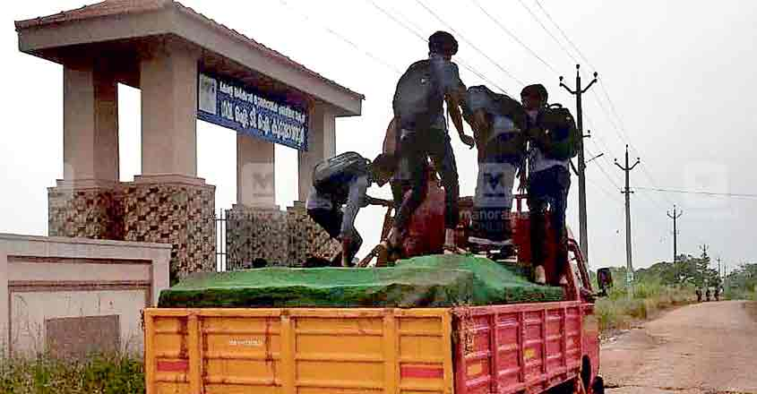 Why students hitchhike on brick trucks in Kannur