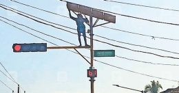 Smooth five-year run for Payyanur solar traffic signal