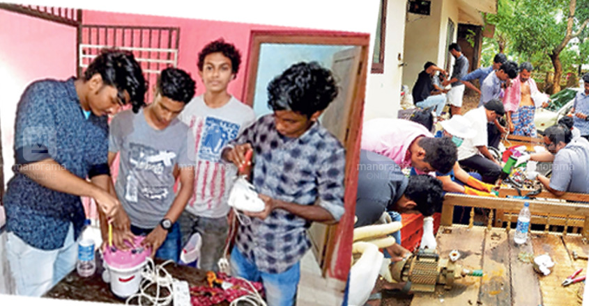 Will repair anything: ITI students' selfless service at flood-hit areas