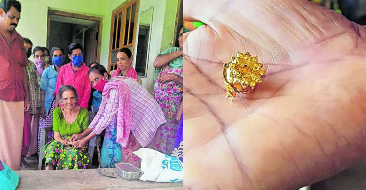 Elderly woman gets back her gold earring after 20 years