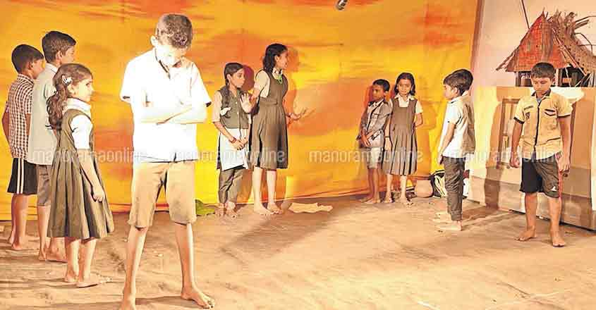 A play of sorts indeed. Little actors take the centre stage