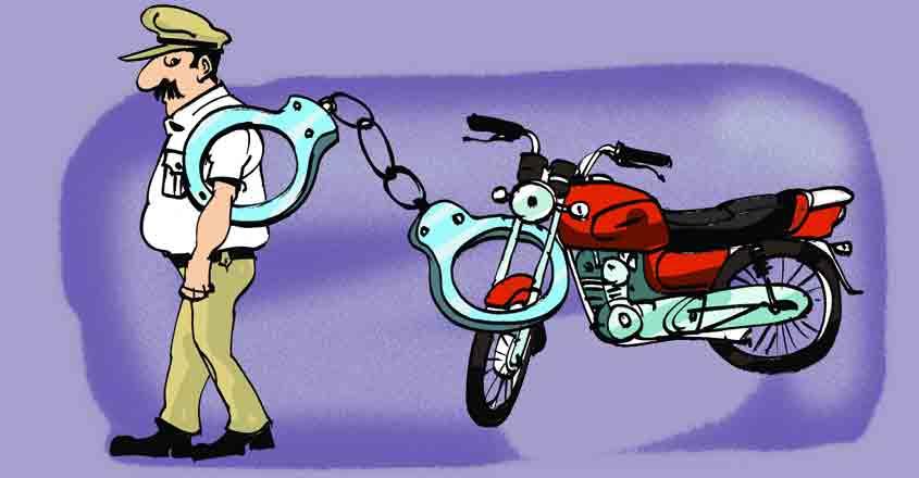 Biker's COVID-19 ruse to evade traffic cops falls flat