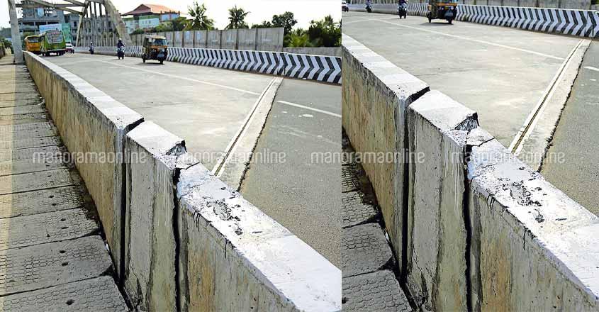 Approach roads to Nagampadam bridge subside with rains