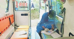 COVID positive student gives higher diploma exam from ambulance
