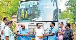 Wash hands before buying ticket on this KSRTC bus
