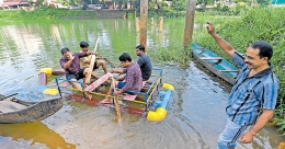 Kottayam man makes boat using PVC pipes