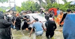 Rescue efforts in vain, youth killed after car swept away by floodwaters in Kottayam