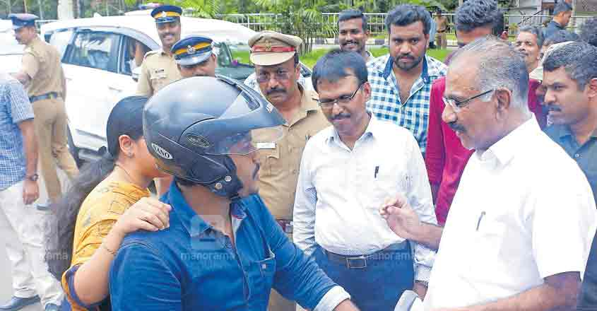 Wear your seat belt! MLA gets safety lessons from minister