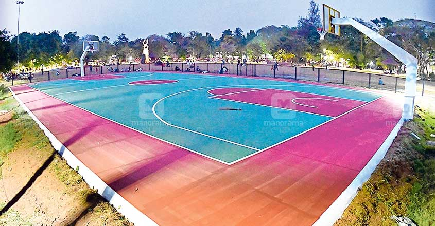 New basketball court at Mananchira all set for reopening