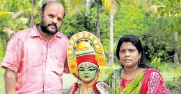 Class III student pays tribute to healthcare personnel through Ottamthullal