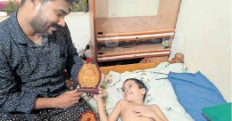 Bedridden child artist seeks aid to draw again
