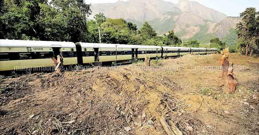 Elephant corridor beside railway tracks aimed at reducing fatal collisions