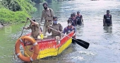 A boat made of waste to rescue people stranded in floods