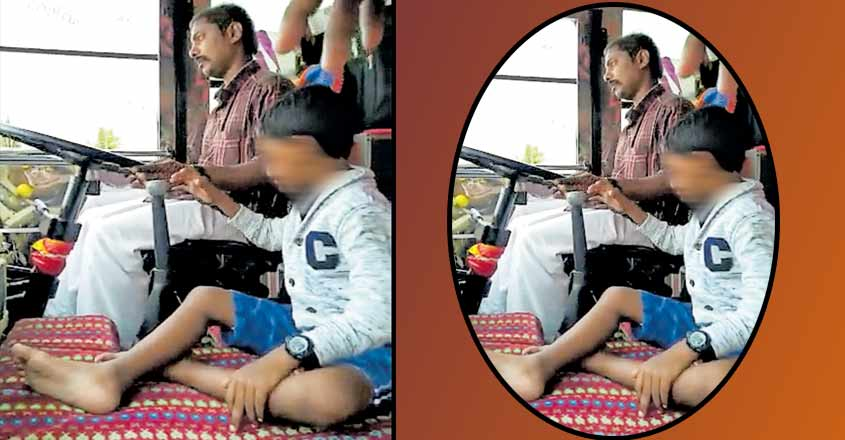 Driver loses licence for letting boy change gear of moving bus