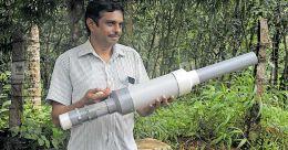 Carbide guns to scare away wild animals at plantations